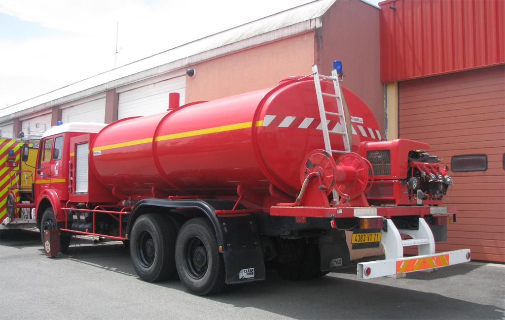 Camion-citerne de grande capacité, Sapeurs-pompiers, Saône-et-Loire (71)