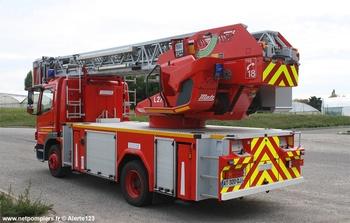 Echelle pivotante, Sapeurs-pompiers, Eure-et-Loir