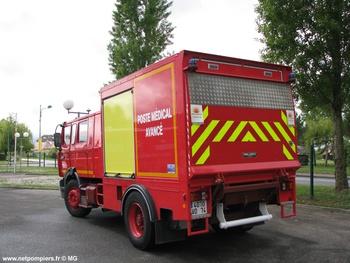 Véhicule poste médical avancé, Sapeurs-pompiers, Haute-Savoie