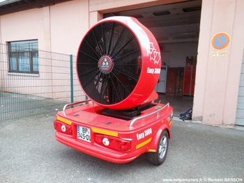 Remorque ventilateur grand débit, Sapeurs-pompiers, Bas-Rhin (67)