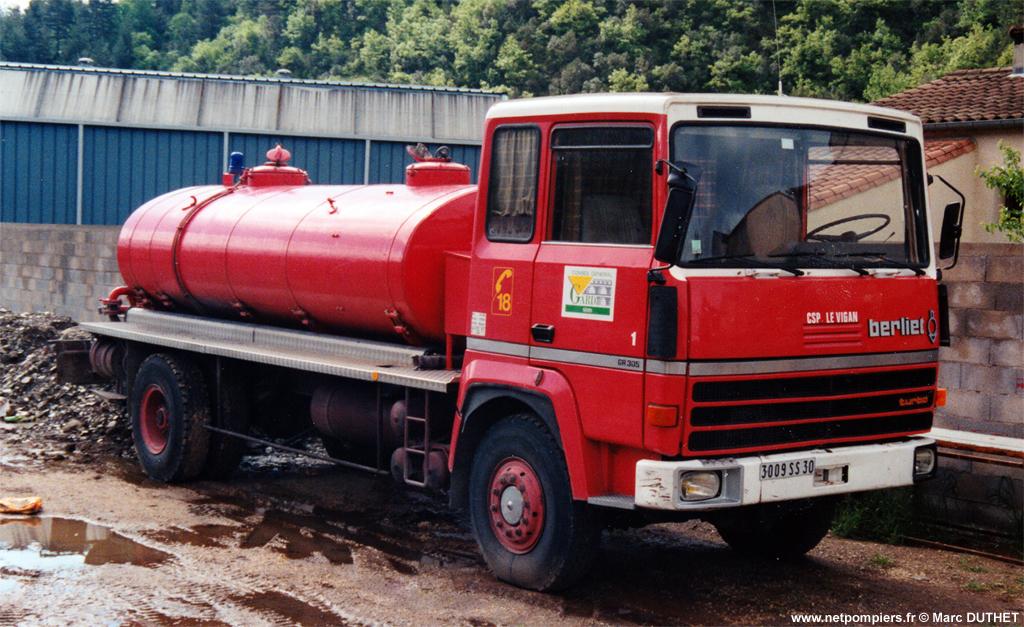 Camion-citerne de grande capacité, Sapeurs-pompiers, Gard (30)