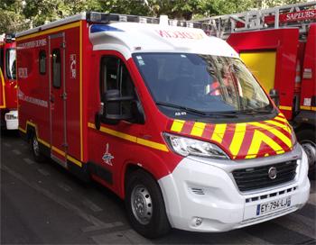Ambulance de réanimation, Sapeurs-pompiers de Paris, Paris (75)