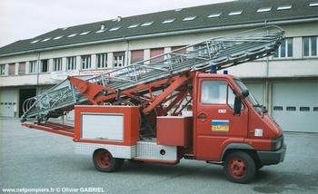 Echelle sur porteur, Sapeurs-pompiers, Territoire-de-Belfort