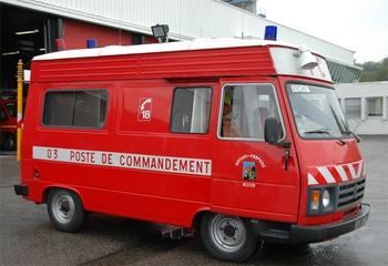 Véhicule poste de commandement, Sapeurs-pompiers, Allier