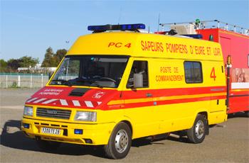 Véhicule poste de commandement, Sapeurs-pompiers, Eure-et-Loir (28)