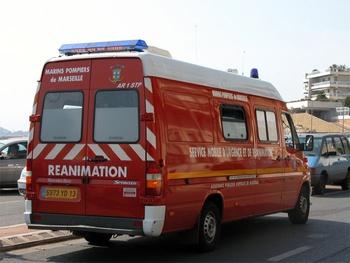 Ambulance de réanimation, Marins-pompiers de Marseille, Bouches-du-Rhône