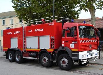Véhicule mousse, Sapeurs-pompiers, Ain (01)