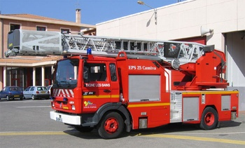 Echelle pivotante, Sapeurs-pompiers, Alpes-de-Haute-Provence (04)