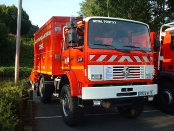 Dévidoir automobile, Sapeurs-pompiers, Morbihan
