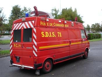Véhicule poste de commandement, Sapeurs-pompiers, Saône-et-Loire (71)