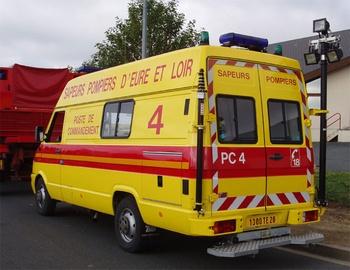 Véhicule poste de commandement, Sapeurs-pompiers, Eure-et-Loir