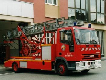 Echelle sur porteur, Sapeurs-pompiers, Bas-Rhin (67)