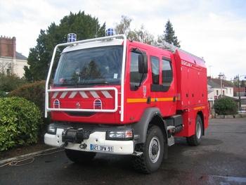 Fourgon-pompe tonne, Sapeurs-pompiers, Essonne