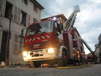 Echelle pivotante, Sapeurs-pompiers, Meurthe-et-Moselle (54)