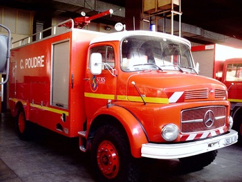 Véhicule poudre, Sapeurs-pompiers, Rhône (69)