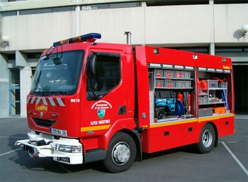 Véhicule de secours routier, Sapeurs-pompiers, Alpes-Maritimes (06)