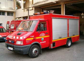 Véhicule de secours routier, Sapeurs-pompiers, Alpes-Maritimes