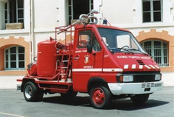 Véhicule tri-extincteur, Marins-pompiers de Marseille, Bouches-du-Rhône (13)