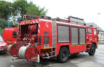 Véhicule mousse, Sapeurs-pompiers, Manche
