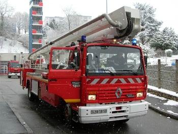 Camion bras élévateur articulé, Sapeurs-pompiers, Manche
