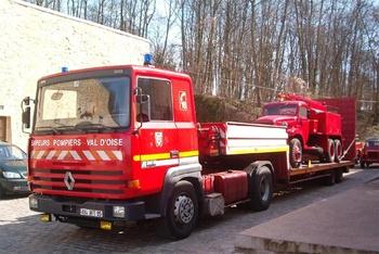 Véhicule tracteur, Sapeurs-pompiers, Val-d'Oise (95)