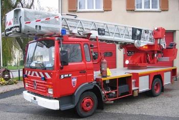 Echelle pivotante, Sapeurs-pompiers, Manche (50)