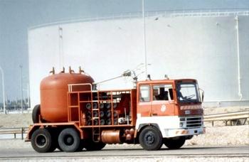 Véhicule poudre, Service de sécurité incendie, Rhône (69)