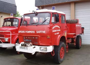 Camion-citerne pour feux de forêts, Sapeurs-pompiers, Sarthe (72)