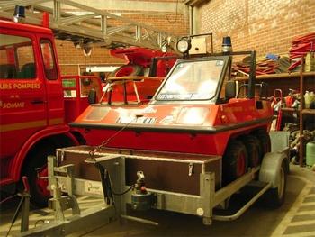 Véhicule amphibie, Sapeurs-pompiers, Somme (80)