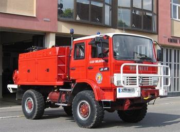 Camion-citerne pour feux de forêts, Sapeurs-pompiers, Bas-Rhin (67)