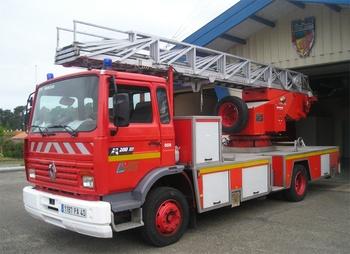 Echelle pivotante, Sapeurs-pompiers, Landes (40)