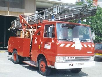 Echelle sur porteur, Sapeurs-pompiers, Gironde (33)