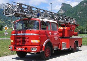 Echelle pivotante, Sapeurs-pompiers, Haute-Savoie (74)