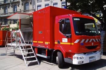 Véhicule de logistique, Sapeurs-pompiers, Loire (42)
