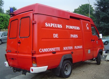 Camionnette soutien de plongée, Sapeurs-pompiers de Paris,