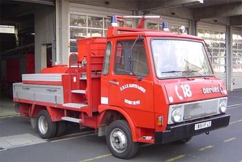 Véhicule mousse poudre, Sapeurs-pompiers, Haute-Loire (43)