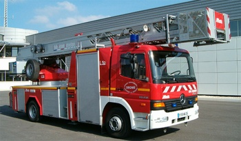 Echelle pivotante, Sapeurs-pompiers, Drôme (26)