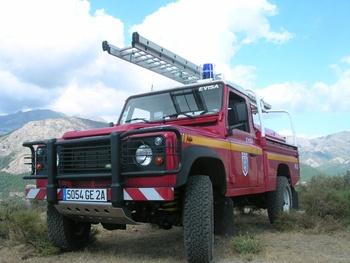 Camion-citerne pour feux de forêts léger, Sapeurs-pompiers, Corse-du-Sud