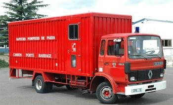 Camion-porte barrage, Sapeurs-pompiers de Paris,  ()