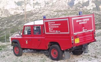 Véhicule pour interventions en milieu périlleux, Marins-pompiers de Marseille, Bouches-du-Rhône (13)