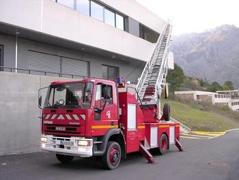 Echelle pivotante, Sapeurs-pompiers, Haute-Corse (2B)