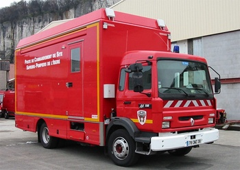 Véhicule poste de commandement, Sapeurs-pompiers, Isère (38)