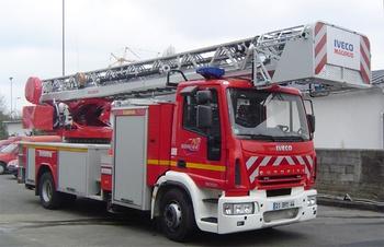 Echelle pivotante, Sapeurs-pompiers, Loire-Atlantique (44)