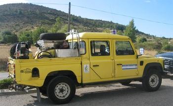 Camion-citerne pour feux de forêts léger, Défense des forêts contre les incendies, Ardèche