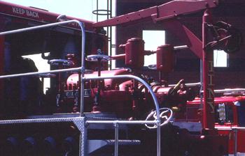 Pompe DeLaval embarquée à bord de la semi-remorque du Superpumper
